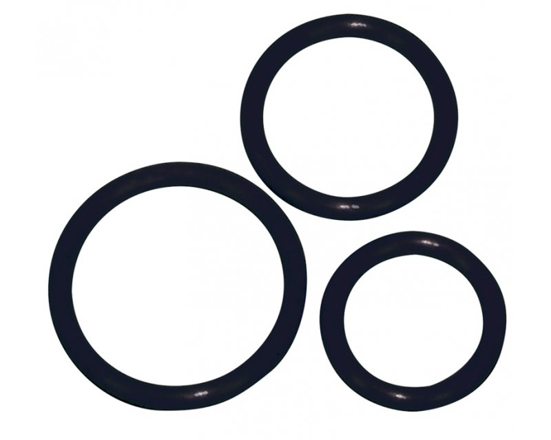 Siliconen cockring set zwart